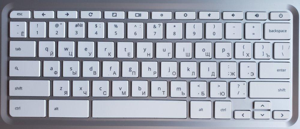 Клавиатура с русской и английской раскладкой